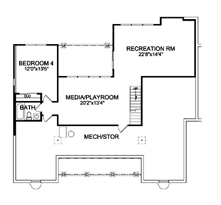 Optional Walk-out Basement Plan image of Featured House Plan: BHG - 9233