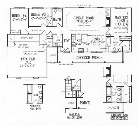 First Floor Plan image of Featured House Plan: BHG - 4465