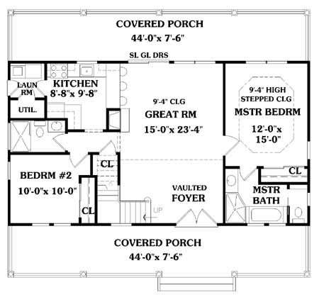 First Floor Plan image of Featured House Plan: BHG - 5353