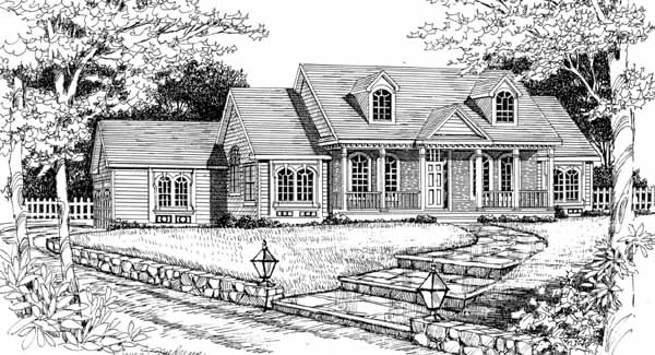 Front Rendering #2 image of Featured House Plan: BHG - 4610