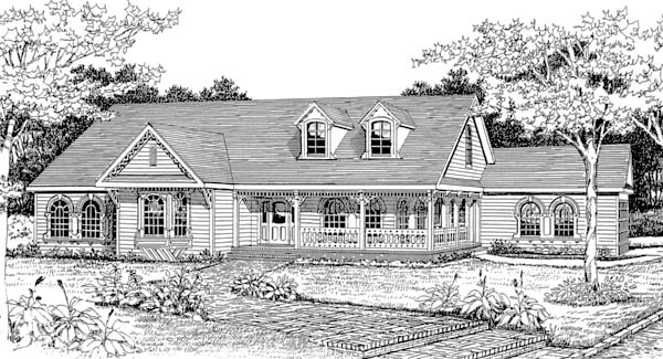 Front Rendering #2 image of Featured House Plan: BHG - 4611