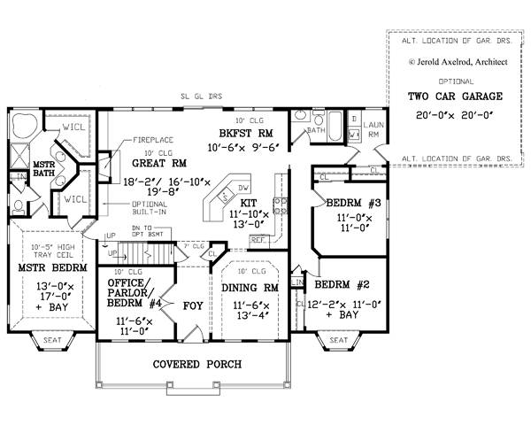 First Floor Plan image of Featured House Plan: BHG - 7780