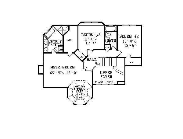 Second Floor Plan image of Featured House Plan: BHG - 2795