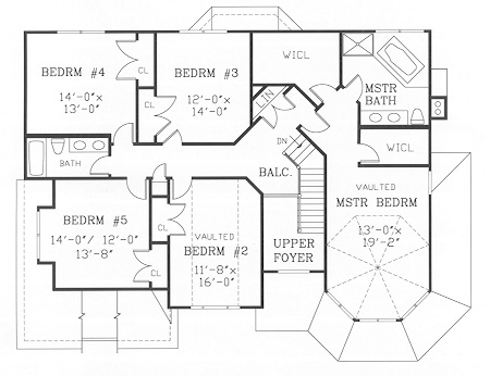 Second Floor Plan image of Featured House Plan: BHG - 3826
