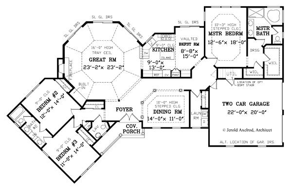 First Floor Plan image of Featured House Plan: BHG - 3705