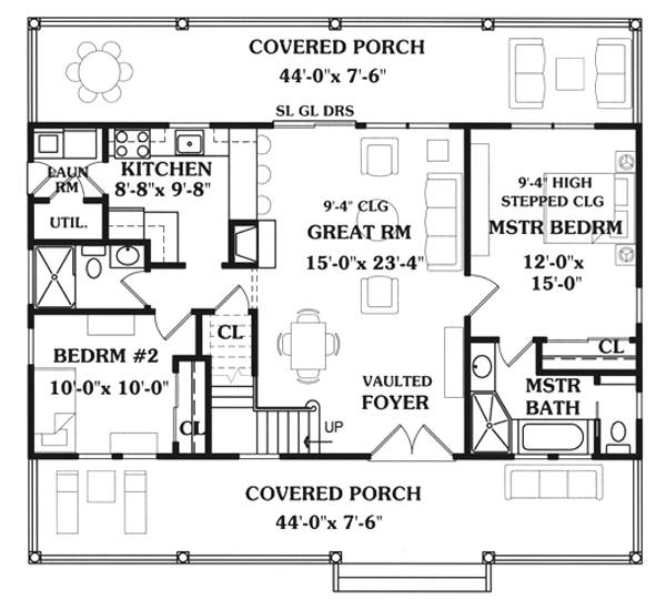 First Floor Plan image of Featured House Plan: BHG - 7731