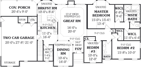 First Floor Plan image of Featured House Plan: BHG - 5608