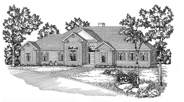 Front View image of Featured House Plan: BHG - 5608