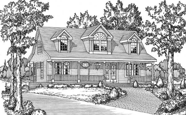 Front Rendering image of Featured House Plan: BHG - 7731