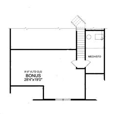 Bonus Second Floor Plan image of Featured House Plan: BHG - 4937