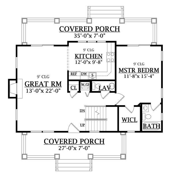 First Floor Plan image of Featured House Plan: BHG - 6643