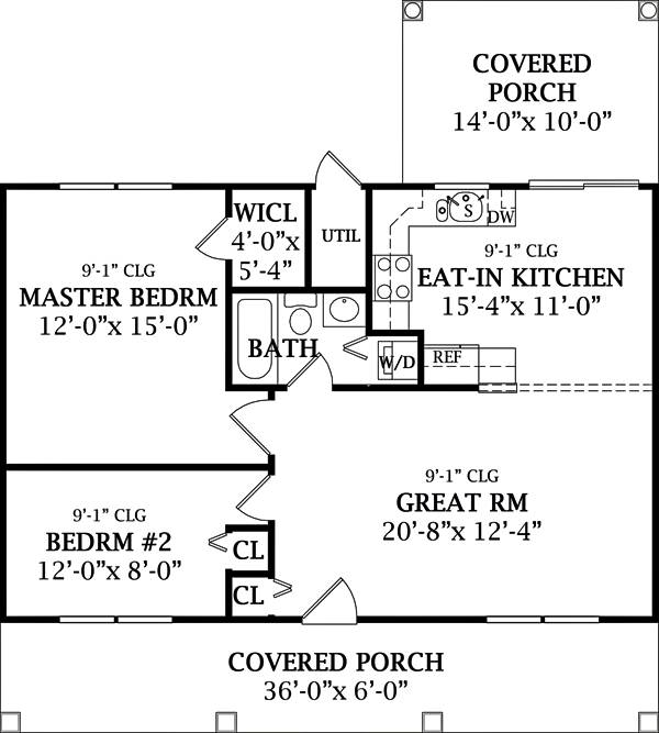 Floor Plan image of Featured House Plan: BHG - 6645