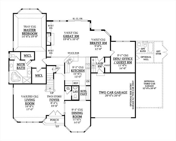 First Floor Plan image of Featured House Plan: BHG - 7905