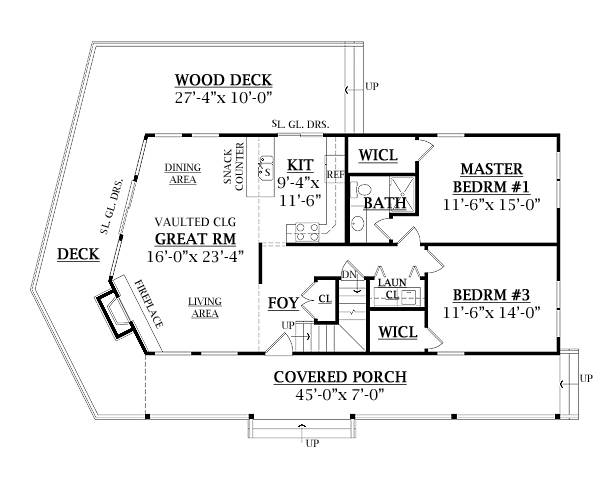 First Floor Plan image of Featured House Plan: BHG - 7908