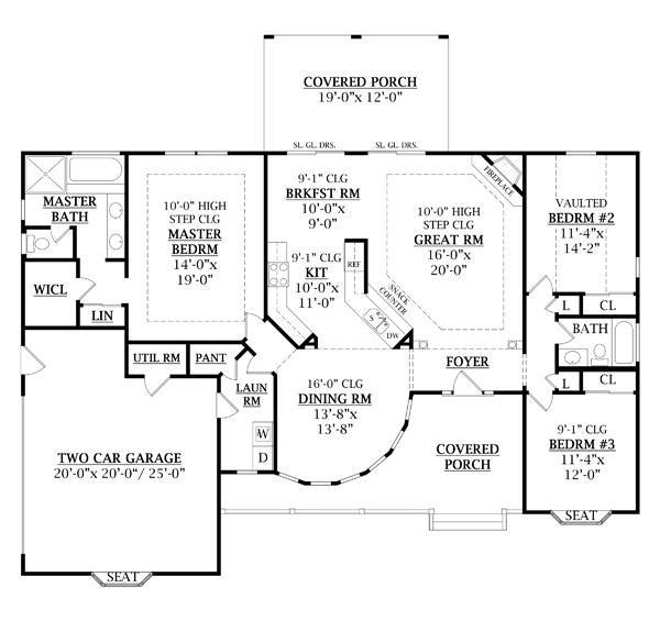 First Floor Plan image of Featured House Plan: BHG - 7909