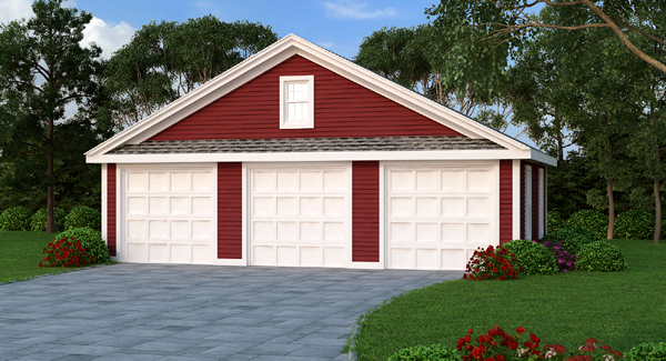Estimate the cost to build for 3 car garage bhg 4969 for Cost to build a one car garage