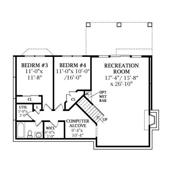 Lower Level image of Featured House Plan: BHG - 8736