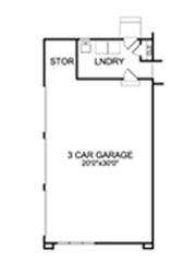 3 Car Garage Plan image of Featured House Plan: BHG - 5214