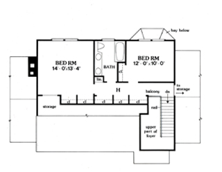 Second Floor Plan image of Featured House Plan: BHG - 3859