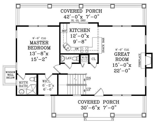 First Floor Plan image of Featured House Plan: BHG - 1876