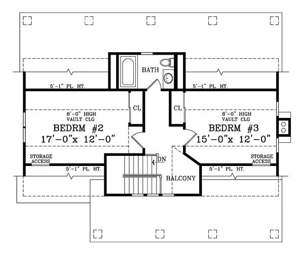 Second Floor Plan image of Featured House Plan: BHG - 1876