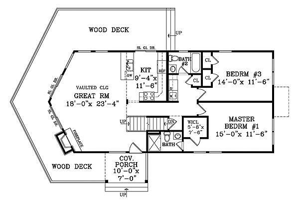 First Floor Plan image of Featured House Plan: BHG - 1878