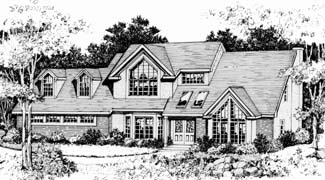 Front Rendering image of Featured House Plan: BHG - 3721