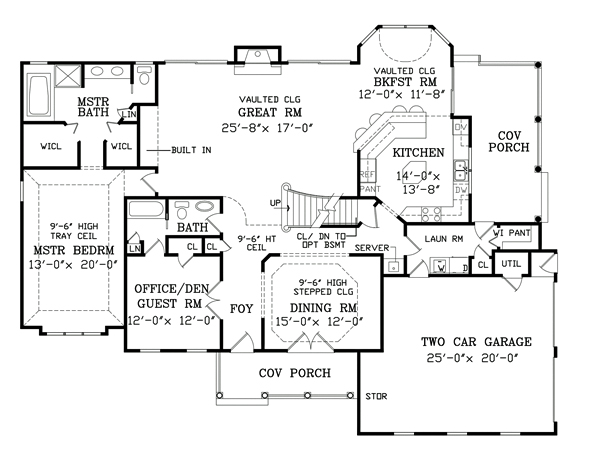 First Floor Plan image of Featured House Plan: BHG - 3703