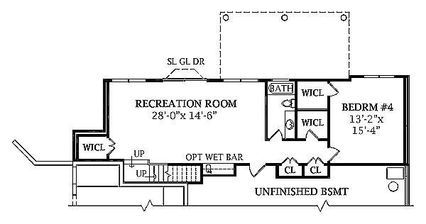 Walk-out Basement Plan image of Featured House Plan: BHG - 2803