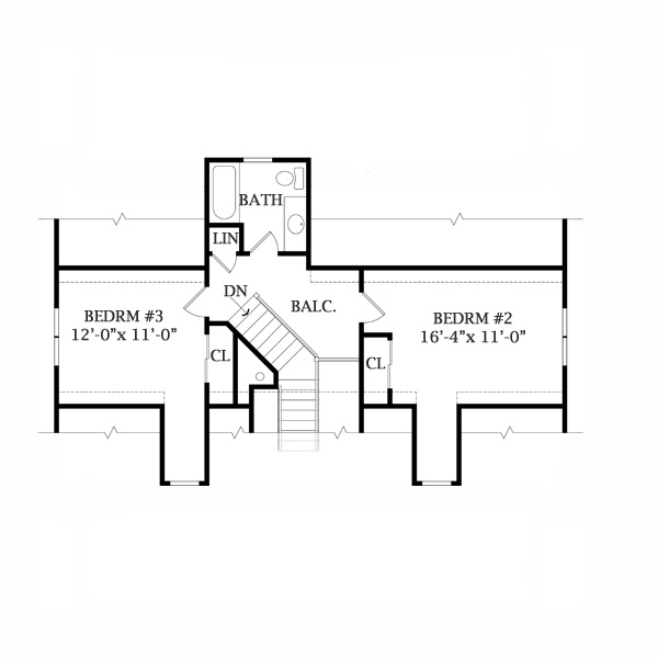 Second Floor Plan image of Featured House Plan: BHG - 7779