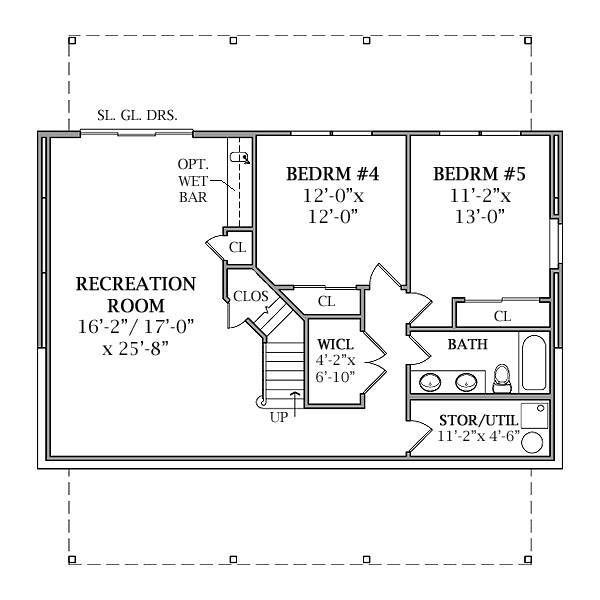 Optional Walk-out Basement Plan image of Featured House Plan: BHG - 2804