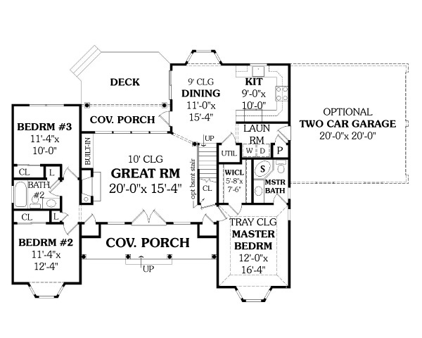 First Floor Plan image of Featured House Plan: BHG - 4676