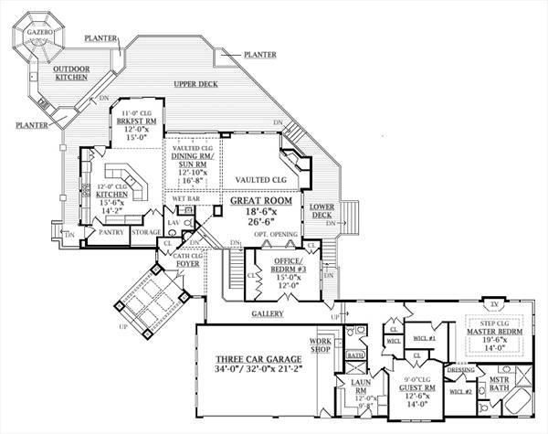 First Floor Plan image of Featured House Plan: BHG - 6940
