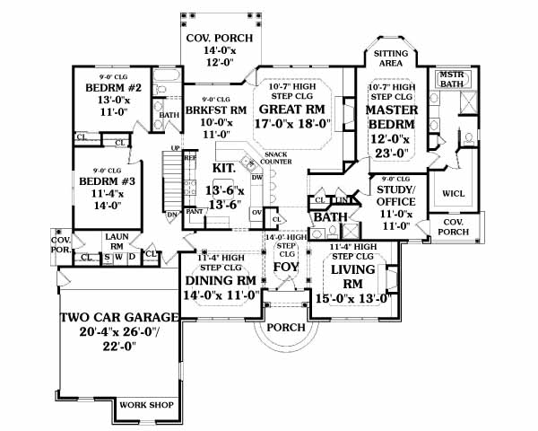 First Floor Plan image of Featured House Plan: BHG - 2809