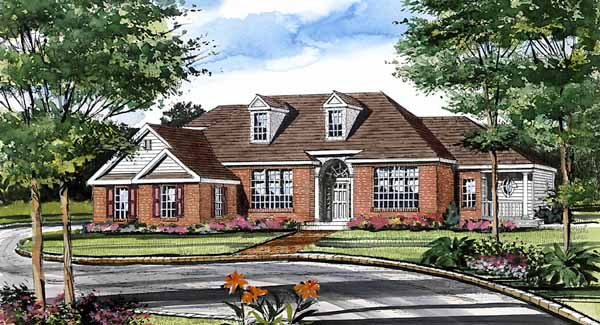 Front Rendering image of Featured House Plan: BHG - 5560