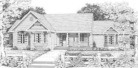 Front Rendering image of Featured House Plan: BHG - 3843