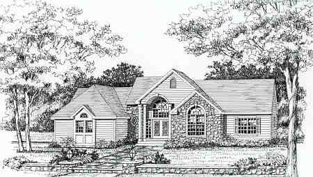 Front Rendering image of Featured House Plan: BHG - 3707