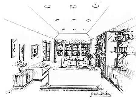 Great Room image of Featured House Plan: BHG - 2796