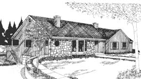 Front Rendering image of Featured House Plan: BHG - 3827