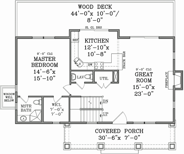 First Floor Plan image of Featured House Plan: BHG - 3124