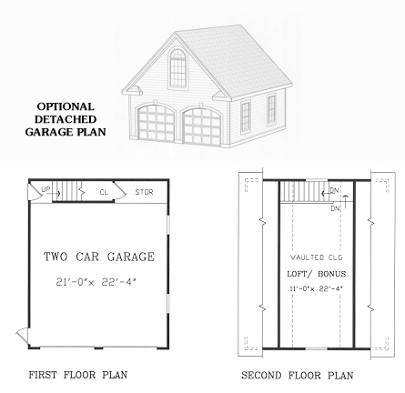 Garage Floor Plan image of Featured House Plan: BHG - 4462