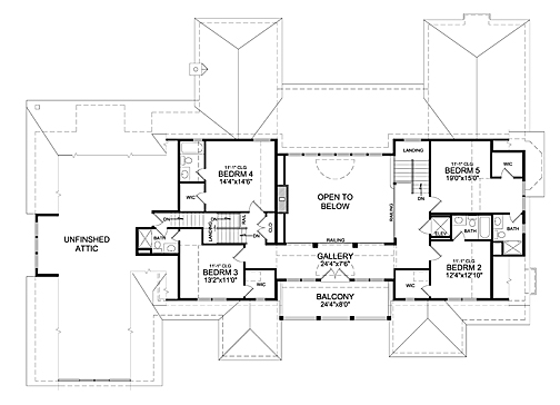 Second Floor Plan image of Featured House Plan: BHG - 7023