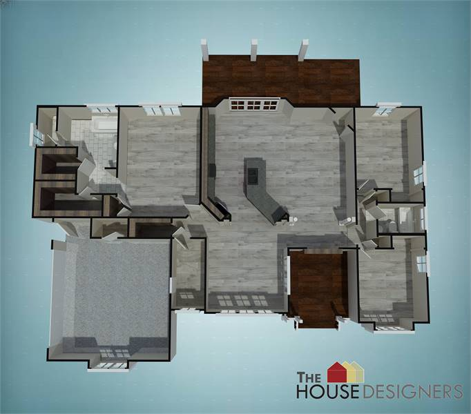 Floor Plan image of Featured House Plan: BHG - 7575