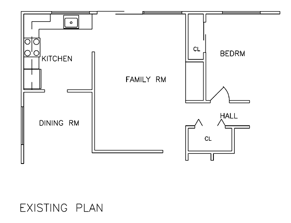 Existing First Floor Plan image of Featured House Plan: BHG - 6232