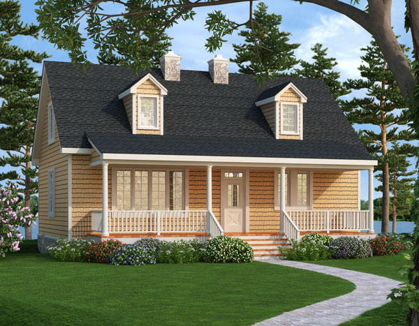 Front Rendering #1 image of Featured House Plan: BHG - 2804