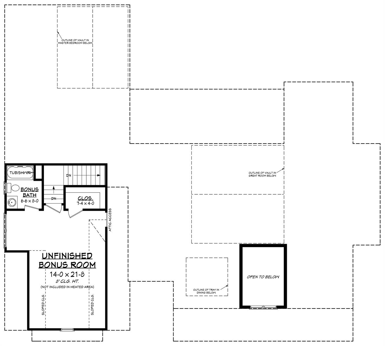 Bonus Floorplan image of Featured House Plan: BHG - 8516