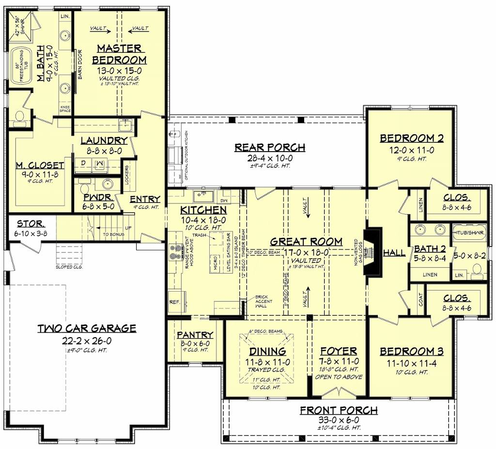 First Floorplan image of Featured House Plan: BHG - 8516