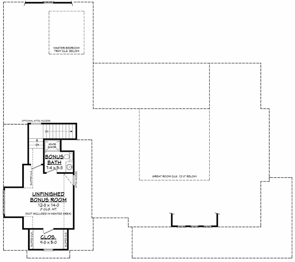 Bonus Floorplan image of Featured House Plan: BHG - 8517