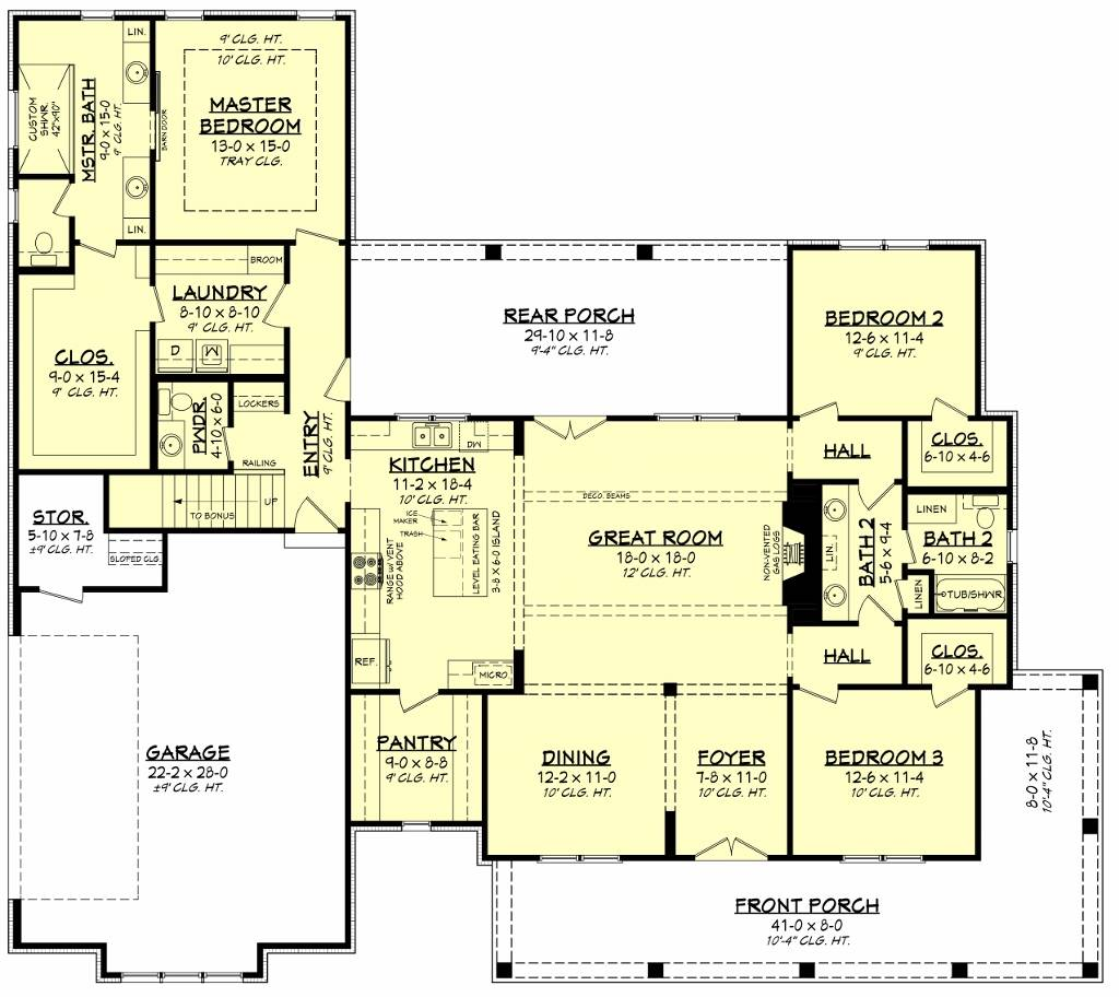 First Floorplan image of Featured House Plan: BHG - 8517