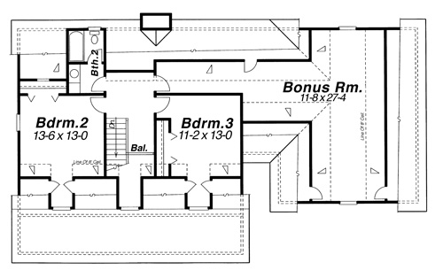 Second Floor image of Featured House Plan: BHG - 6813
